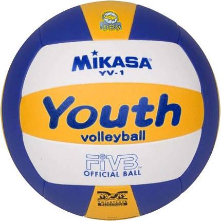 Мяч волейбольный Mikasa YV-1, фото 2
