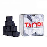 Уголь для кальна кокосовый TAORI 1 кг в упаковке(64 кубика)
