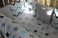 Детское постельное белье зигзаг и пряники-2