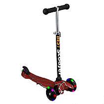 Самокат с алюминиевой рулевой трубкой и светящимися колесами Best Scooter, 1207