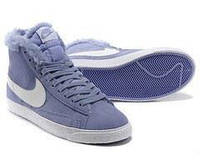 Nike Dunk Hight Purple С МЕХОМ, фото 1