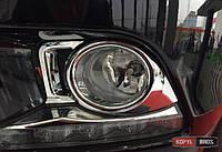 Toyota Highlander XU50 2014 накладка хром на противотуманные фары малая