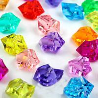 (400 грамм) Искусственный лед 25х15мм, 20х30мм, камушки, кристаллы  декоративные (цена за 400грамм) - МИКС