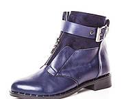 Женские синие ботинки оптом весна.