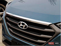 Hyundai Tucson TL 2015 накладка хром на капот