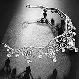Диадема для девочки, тиара, корона под серебро, высота 4,5 см., фото 2