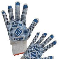 Перчатки Хб с ПВХ точкой Восток Сервис