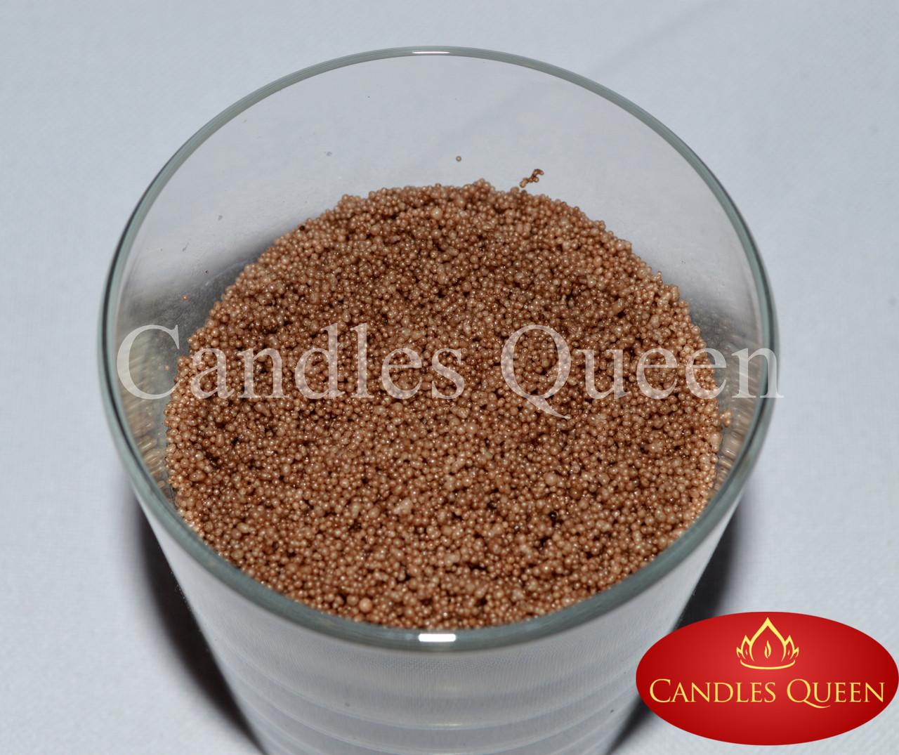 Стеарин в гранулах коричневый цвет 1 кг. Для насыпных свечей и литых