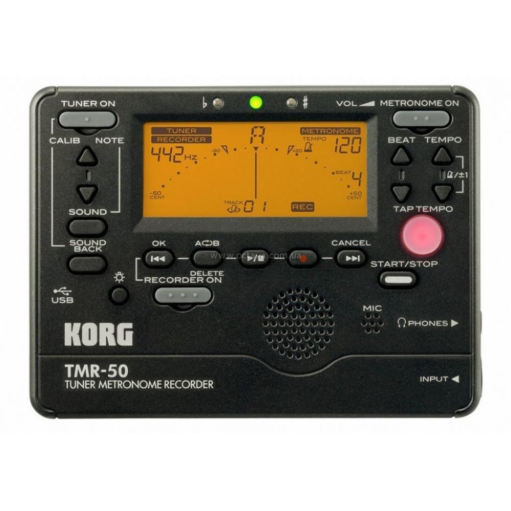 Тюнер-метроном-рекордер цифровой Korg TMR-50-BK - ★★★★★ Premium в Киеве