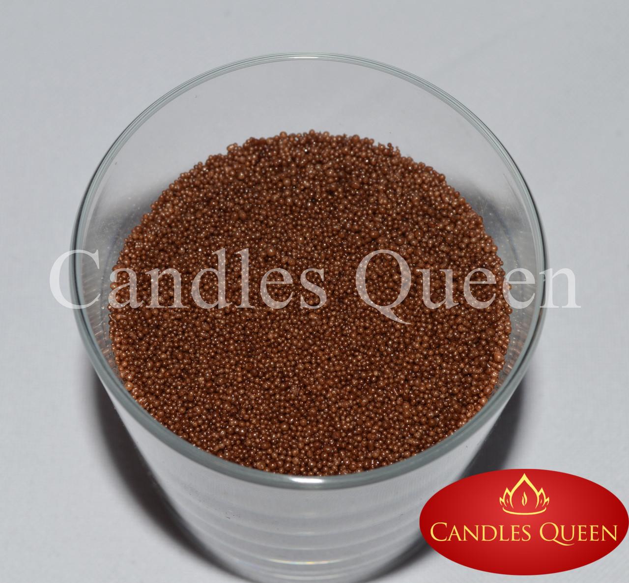 Стеарин цвет молочный шоколад 1 кг. Для насыпных свечей и литых
