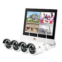 Набор для улицы LCD Wi-Fi IP-25 4xCAM + 1xNVR