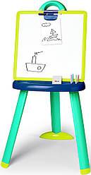 Детский мольберт Smoby со съемной доской голубо-зеленый 410607