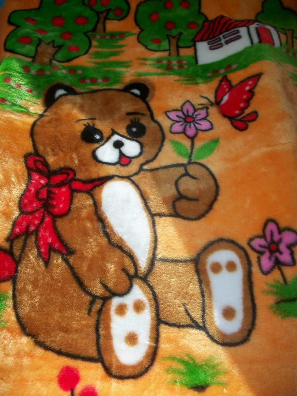 """Одеяло """"Мишка"""" (оранжевый)"""