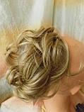 Резинка шиньон из волос песочный блонд  0215А-Н16/613, фото 2