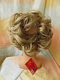 Резинка шиньон из волос песочный блонд  0215А-Н16/613, фото 4