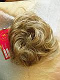 Резинка шиньон из волос песочный блонд  0215А-Н16/613, фото 5