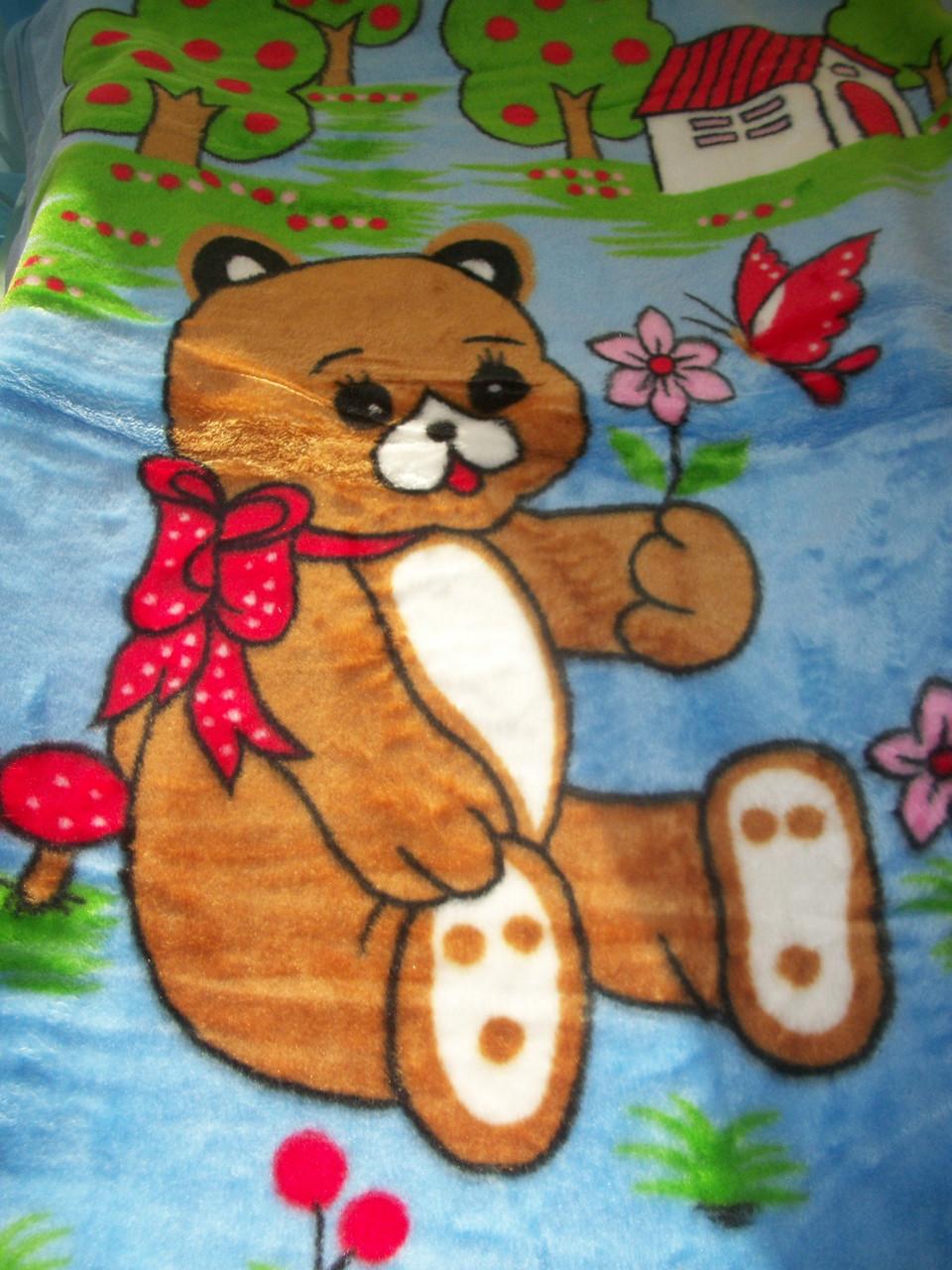 "Одеяло ""Мишка"" (голубой)"