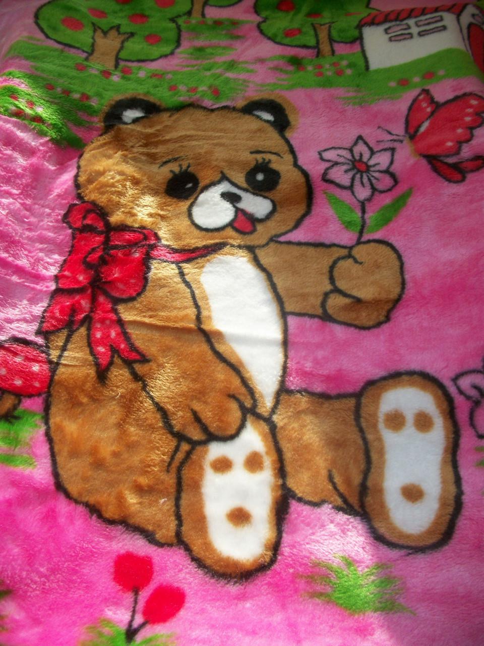 """Одеяло """"Мишка"""" (розовый)"""