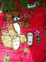 """Одеяло """"Мишка"""" (малиновый)"""