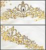 Диадема свадебная корона Тиара  ЭЙРИ Голд Диадема свадебная короны диадемы тиары свадебные аксессуары, фото 6