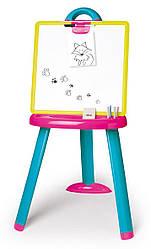 Детский мольберт Smoby со съемной доской розово-голубой 410608
