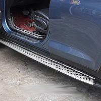Подножки Оригинал на Hyundai Kona (с 2018—) Под брызговик