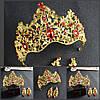 Диадема МАДОННА корона и серьги набор красная корона высокая диадемы свадебные аксессуары для волос, фото 7