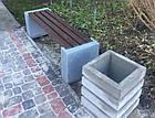 Лавка садово-парковая без спинки с бетонным основанием №1, фото 3