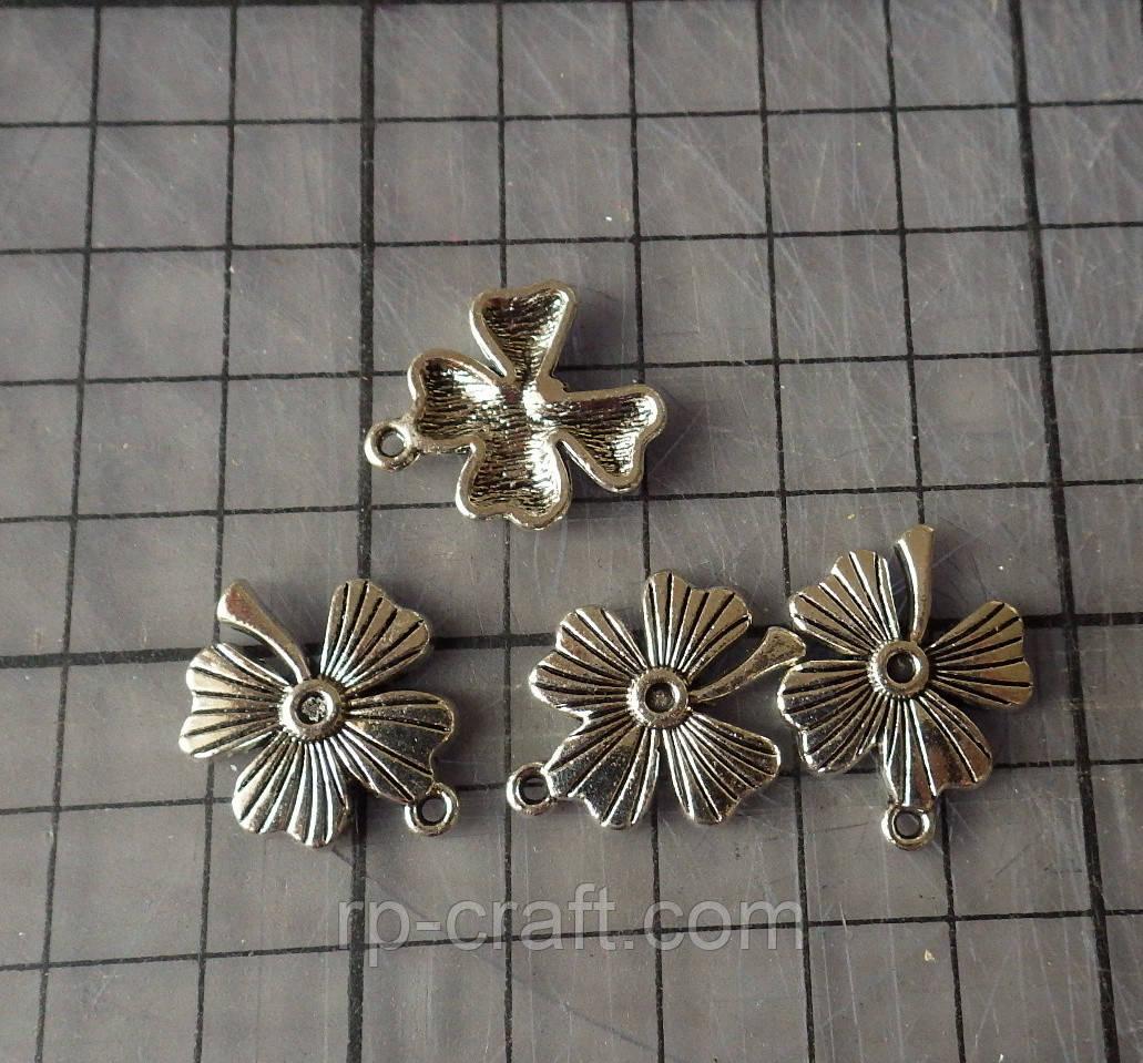 Підвіска металева. Конюшина, 18х23 мм