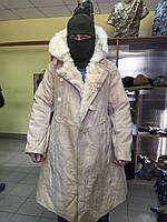 Кожух (бекеша) армейский  СССР белый  овчина