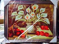 Картина в рамке 45*40см (Каллы). Подарок к празднику код 56019