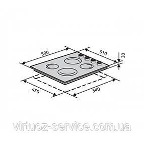 Электрическая поверхность Ventolux HE 604 INOX 1, фото 2