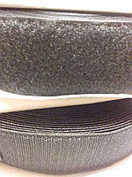 Липучка швейная ширина 50 мм черная на метраж