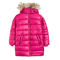 Зимнее утепленное пальто для девочек Cool Club, Польша, размер 122, 128