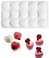 Силиконовая форма для муссовых десертов CUPIDO (Сердечки для минипирожных)