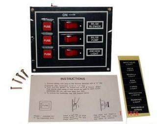 10073-BK 3 переключателя 101.6mmx95.3mmx1.5mm