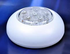 Светильник  для катера, лодки, яхты LED включение нажатием SURFACE MOUNT SWITCHED LED 110х44мм