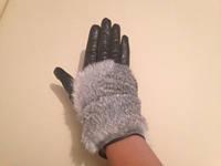 Ranna Isms женские кожаные перчатки черные с мехом