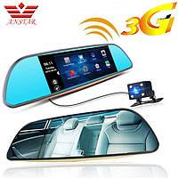 "Зеркало регистратор K35 7"" сенсорный екран/ WiFi/ 8Gb/ Android/ 3G/ 2 камеры , фото 1"