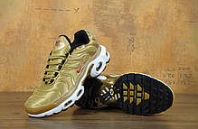 Кроссовки Nike Air Max TN Gold золотистые топ реплика, фото 3