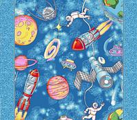 Детский ковролин Космос (р1126)