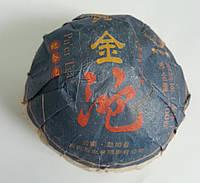 """Китайский черный чай - шу пуэр """"Золотой дракон"""", точа, 2005 г., 100 г"""