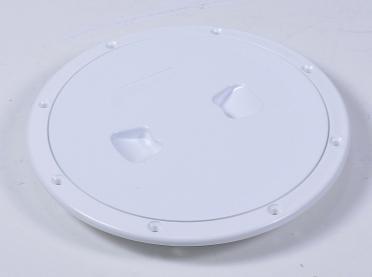 Лючок инспекционный для катера, лодки, яхты белый, диаметр 12,7 см, C13023W6