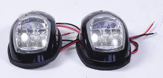 Пара LED навигационных огней, черный корпус, C91006PB-1