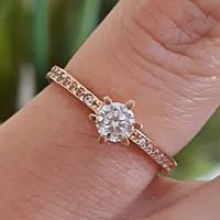Золотое помолвочное кольцо с камнем - Кольцо для помолвки золото eb0556120bc32