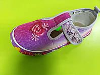 Детские текстильные тапочки и балетки для девочки