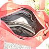 Женская кожаная сумка с карманами красная, фото 3