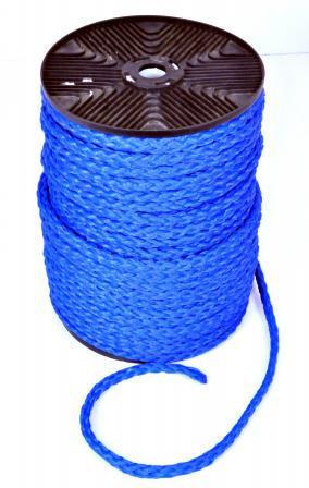 Мотузка нетонущая для човни, катери, яхти блакитна. плав. 100м, 12мм