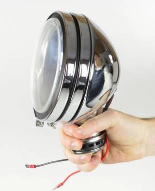 Прожектор-ксенон, корпус хромированный, диаметр 152мм, 3600lm, 12В, точечный