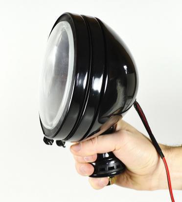 Прожектор поисковый для лодки, катера, яхты ксенон, черный, диаметр 152мм, 3600Lm, 12В, точечный